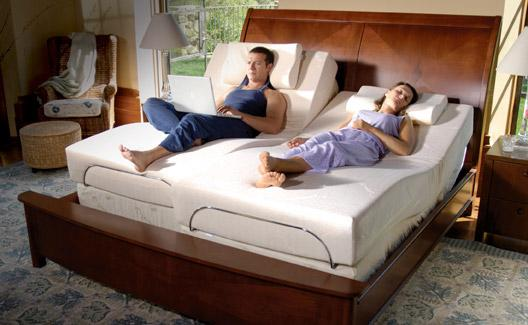 adjustable bed with massage wireless remote